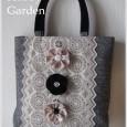 ベロアリボンのお花トートバッグ